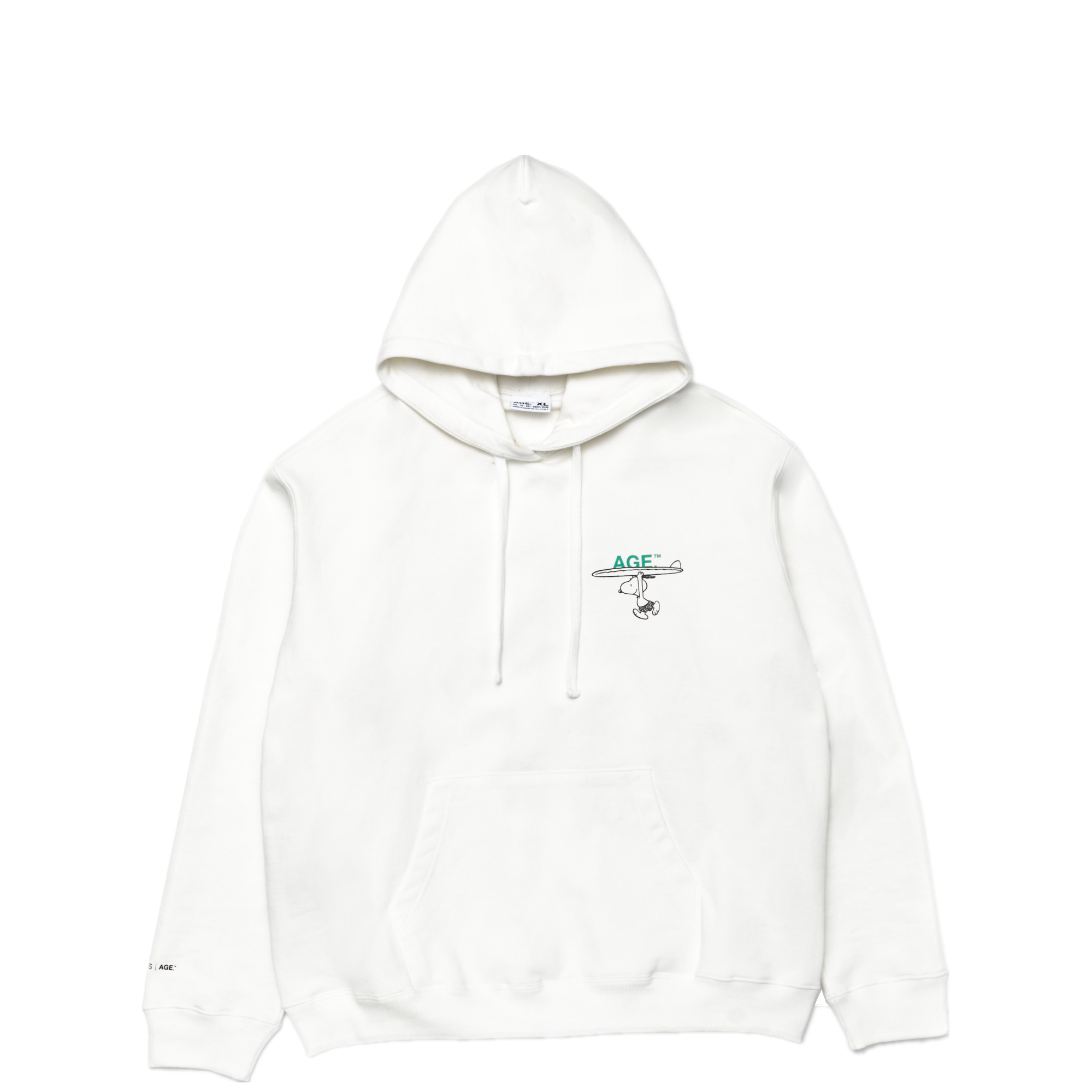 AGE X Snoopy Carrying Hooded WH/GN
