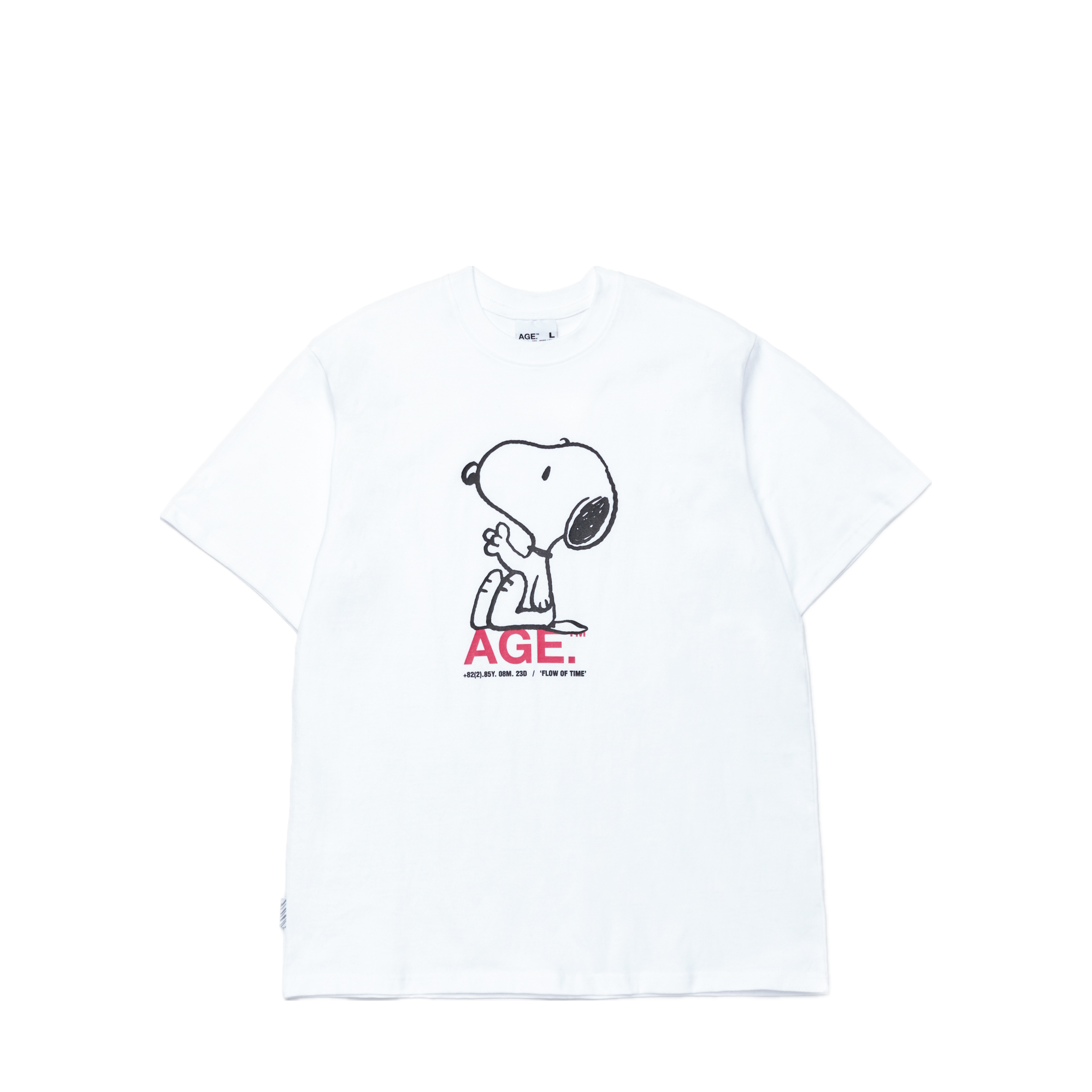 AGE X Snoopy Sitting Tee WH/PK